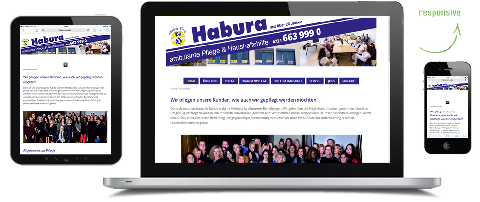 Symbol7Marketing Webreferenzen Habura Plegedienst Karlsruhe